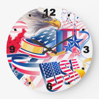 The USA Flag Large Clock