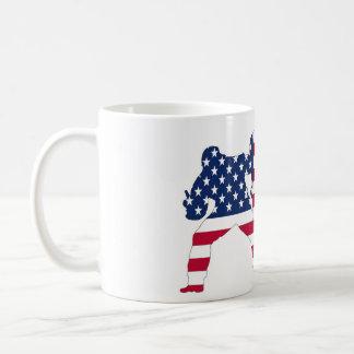 The USA flag snowboardes mug