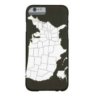 The USA map in black and white Barely There iPhone 6 Case