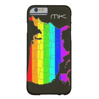 The USA map in pride rainbow colors Barely There iPhone 6 Case