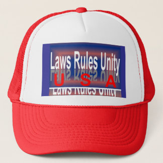 The USA Patriotic Trucker Hat - Network/Blue