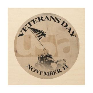 The USA Veterans Day November 11 Wood Wall Art