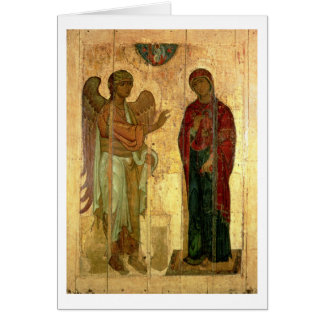 The Ustiug Annunciation, c.1130-40 (tempera on pan Card