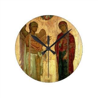 The Ustiug Annunciation, c.1130-40 (tempera on pan Clock