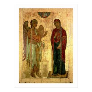 The Ustiug Annunciation, c.1130-40 (tempera on pan Postcard