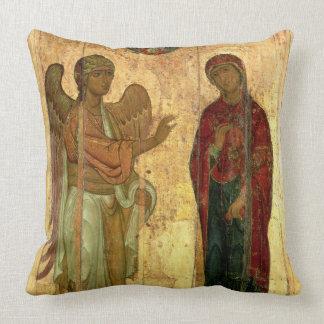 The Ustiug Annunciation, c.1130-40 (tempera on pan Throw Pillow
