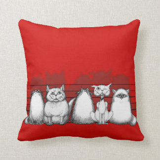 The Usual Pussies Throw Pillow