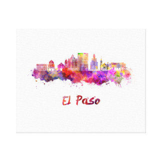 The V2 Step skyline in watercolor Canvas Print
