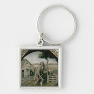 The Vagabond/The Prodigal Son, c.1510 Silver-Colored Square Keychain