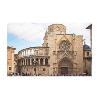 The Valencia Cathedral. Canvas Print