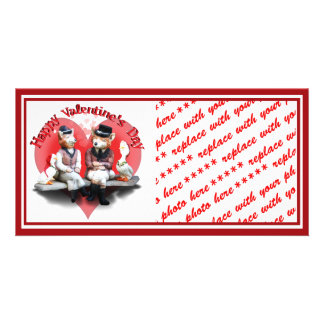 The Valentine's Day Foxy Couple Personalized Photo Card