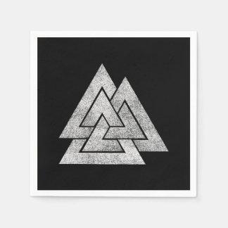 The Valknut Norse Viking Design Paper Napkin