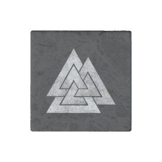 The Valknut Norse Viking Design Stone Magnets