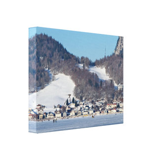 The valley of Joux in the Canton of Vaud Canvas Print