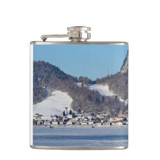 The valley of Joux in the Canton of Vaud Hip Flask