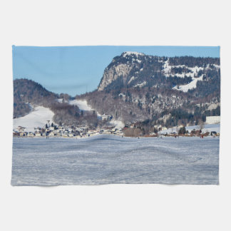 The valley of Joux in the Canton of Vaud Kitchen Towel