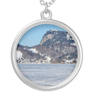 The valley of Joux in the Canton of Vaud Silver Plated Necklace