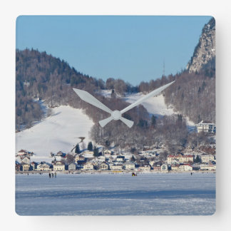 The valley of Joux in the Canton of Vaud Square Wall Clock