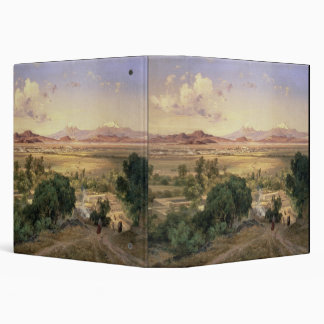 The Valley of Mexico from the Low Ridge of Tacubay Vinyl Binder