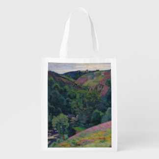 The Valley of the Sedelle, 1897 (oil on canvas) Reusable Grocery Bag