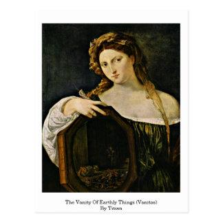 The Vanity Of Earthly Things (Vanitas) By Titian Postcard
