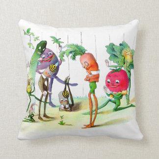 The Vege-Men's Revenge 2 Throw Pillows