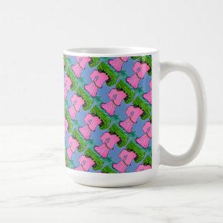 """""""The Veggie Stroll Tiled"""" Abstract Design Mug"""