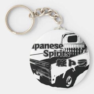 The vehicle which carries Japanese barrel mind, it Keychain