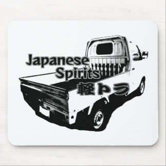 The vehicle which carries Japanese barrel mind, it Mouse Pad