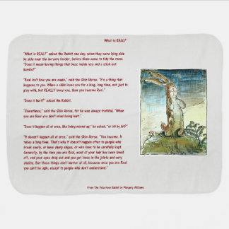 The Velveteen Rabbit - What is Real? Baby Blanket