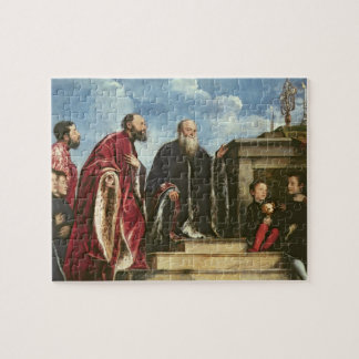 The Vendramin Family, 1543-47 (oil on canvas) Jigsaw Puzzle