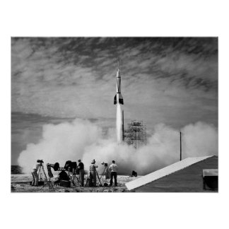 The Very First Rocket Launch At Cape Canaveral Poster