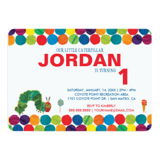 "The Very Hungry Caterpillar Birthday 5"" X 7"" Invitation Card"