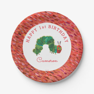 The Very Hungry Caterpillar Birthday 7 Inch Paper Plate