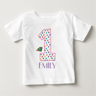The Very Hungry Caterpillar Butterfly 1st Birthday Baby T-Shirt