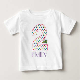 The Very Hungry Caterpillar Butterfly 2nd Birthday Baby T-Shirt