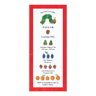 The Very Hungry Caterpillar Fruit Birthday Card