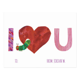 The Very Hungry Caterpillar   I Heart You Postcard