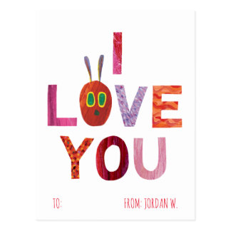 The Very Hungry Caterpillar | I Love You Postcard