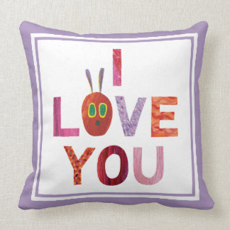 The Very Hungry Caterpillar | I Love You Throw Pillow