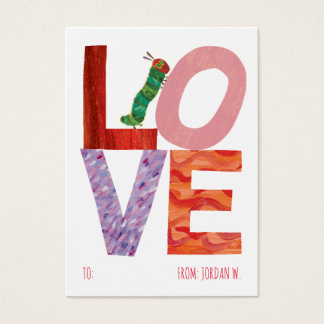The Very Hungry Caterpillar   LOVE Business Card