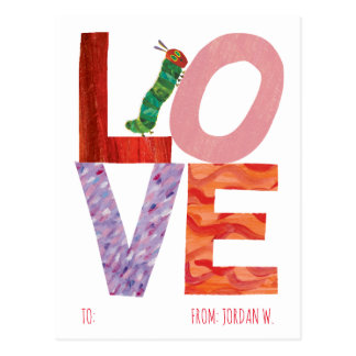 The Very Hungry Caterpillar   LOVE Postcard