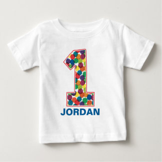 The Very Hungry Caterpillar Polka Dot 1st Birthday Baby T-Shirt