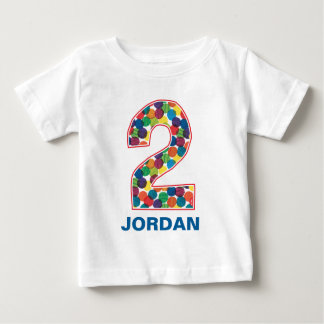 The Very Hungry Caterpillar Polka Dot 2nd Birthday Baby T-Shirt