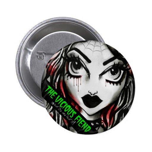 The Vicious Fiend Ghoulfriend Button