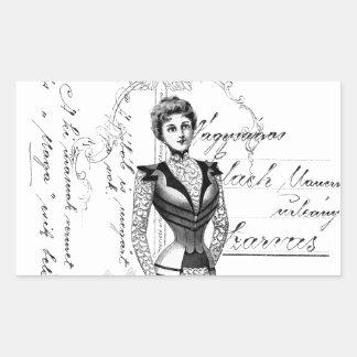 The Victorian Fashion Plate Sticker
