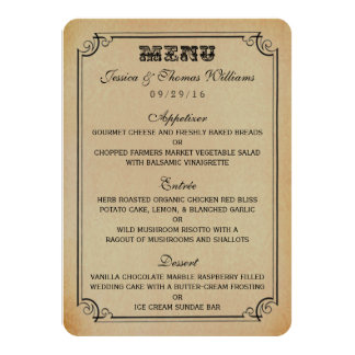The Victorian Steampunk Wedding Collection Card