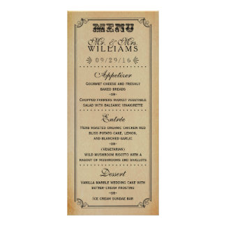 The Victorian Steampunk Wedding Collection Rack Card Template