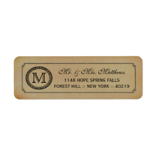 The Victorian Steampunk Wedding Collection Return Address Label