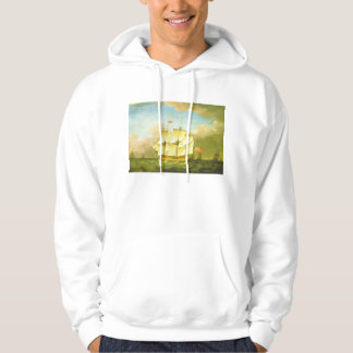 The Victory Leaving the Channel in 1793 by Swaine Hoodie